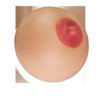 Antistresové prso (8cm) tělová